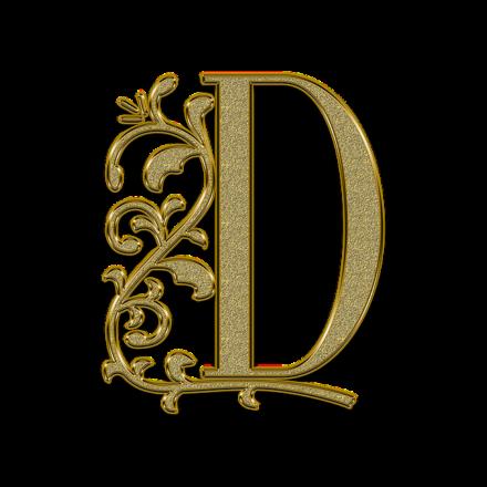 Буква D.
