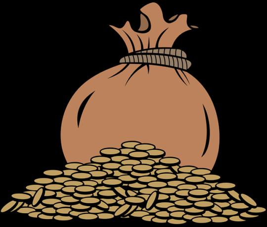 Мешок с монетами.
